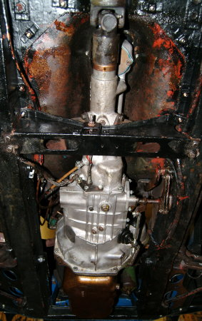 Morris Minor engine and gearbox